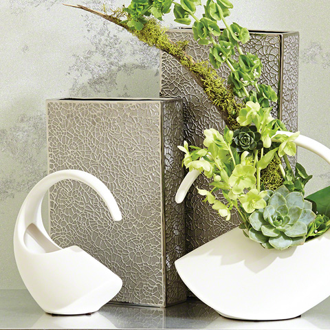 Global Views - Organic Lace Vase - 8.82102