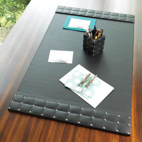 Global Views - Black Desk Blotter - 9.90721