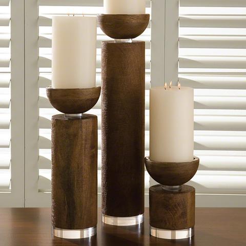 Global Views - Scratched Pillar Candleholder - 9.91046
