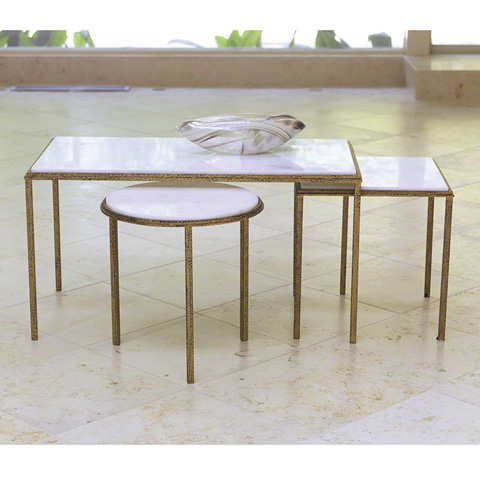 Global Views - Hammered Gold Cocktail Table - 9.91771