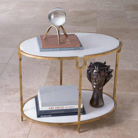 Global Views - Iron and Stone Side Table - 9.91787