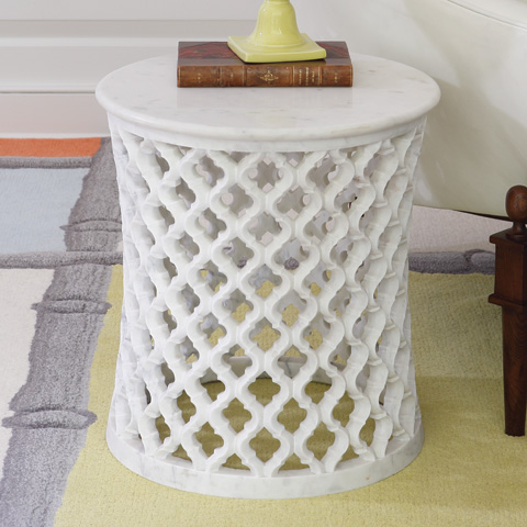 Global Views - Marble Arabesque Side Table - 9.91790