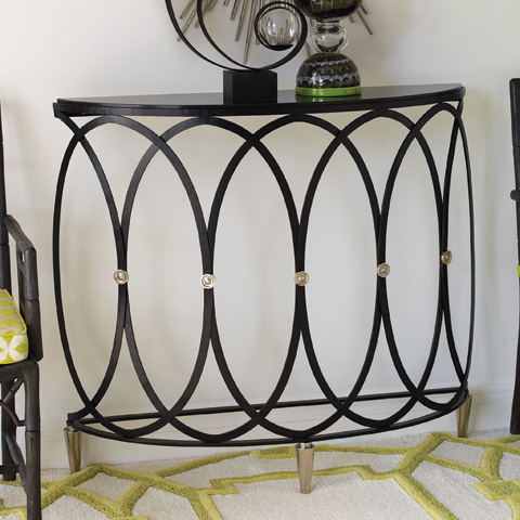 Global Views - Ovoid Demilune Console Table - 9.92009