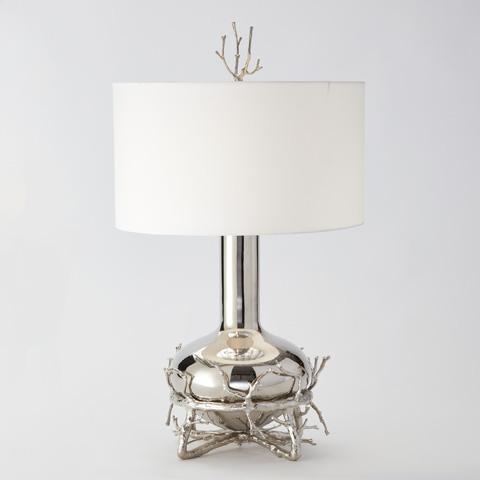 Global Views - Fat Nickel Twig Table Lamp - 9.92090