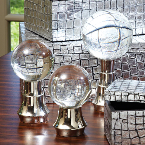 Global Views - Set of 3 Tiered Ball Stands - 9.92143