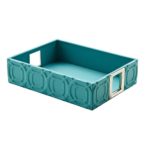Global Views - Arabesque Trapunto Rectangle Tray - 9.92160