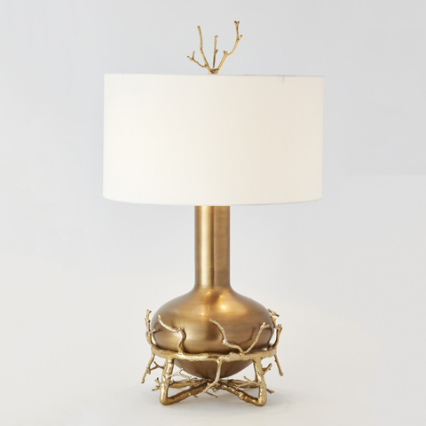 Global Views - Fat Brass Twig Table Lamp - 9.92234