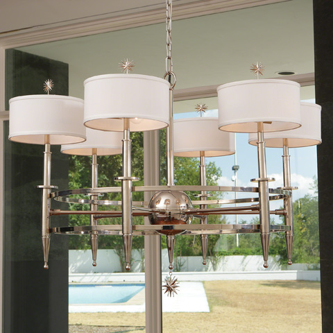 Global Views - Classic Star Arm Chandelier - 9.92461