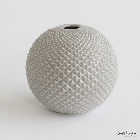 Global Views - Diamond Cut Globe Vase - D8.80024