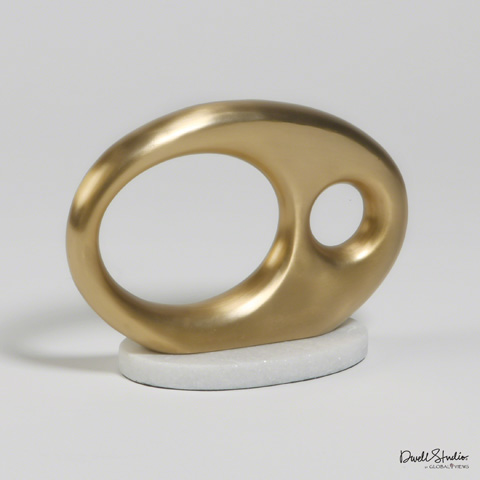 Global Views - Oval Metal Objet - D9.90006
