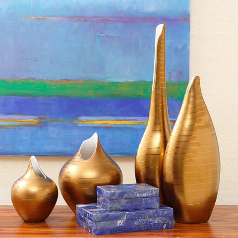 Global Views - Golden Stripe Vase - 1.10251
