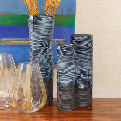 Global Views - Carved Dented Vase - 1.10285