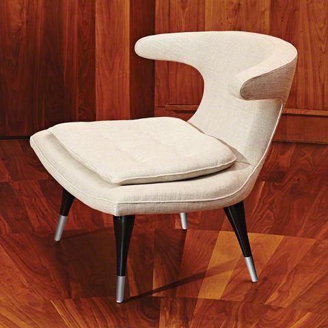 Global Views - Anvil Lounge Chair - 2509-MUSLIN