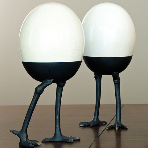 Global Views - Ostrich Egg on Legs - 8.80830