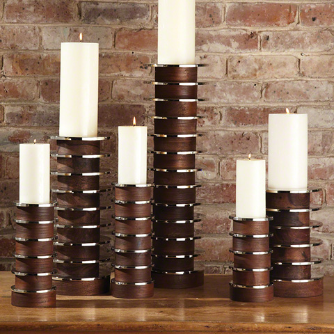 Global Views - Short Stacked Plate Candleholder - 9.91896