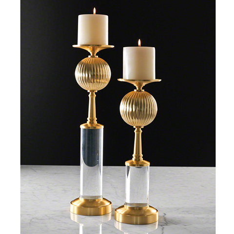 Global Views - Fluted Ball Candleholder - 9.92040