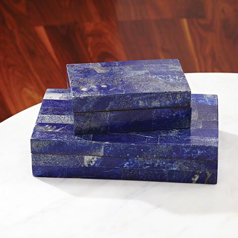 Global Views - Lapis Stone Box - 9.92379