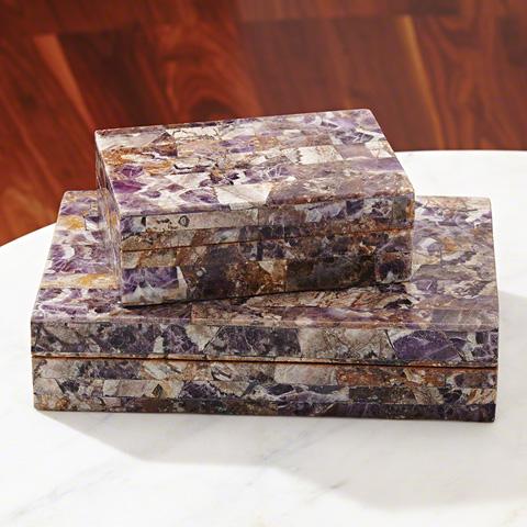 Global Views - Amethyst Stone Box - 9.92381
