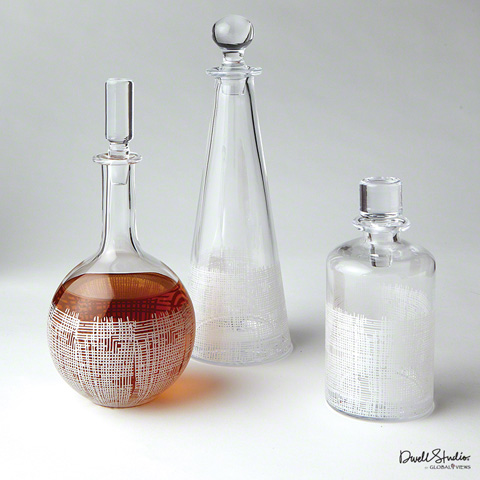 Global Views - Crosshatch Cylinder Decanter - D6.60020