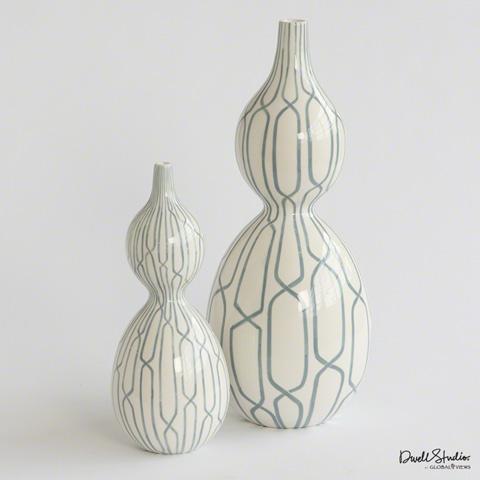 Global Views - Linking Trellis Double Bulb Vase - D8.80022