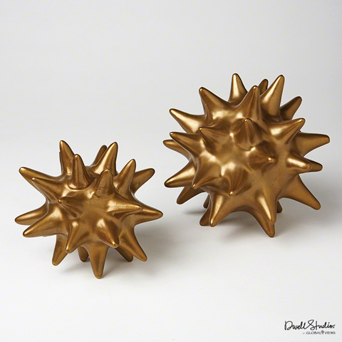 Global Views - Urchin in Antique Gold - D8.80084