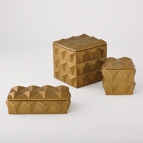 Global Views - Braque Box in Matte Gold - D8.80137