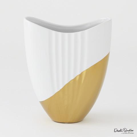 Global Views - Metallic Dipped Oval Vase - D8.80195