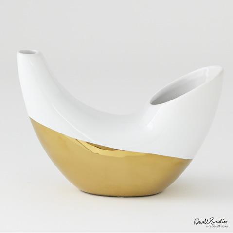 Global Views - Metallic Dipped Horn Vase - D8.80196