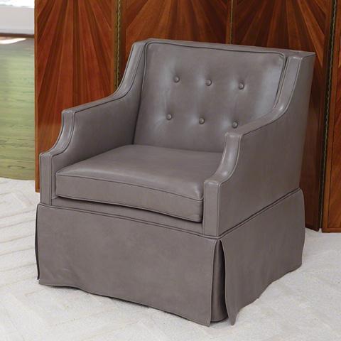 Global Views - Skirted Leather Chair - 2535