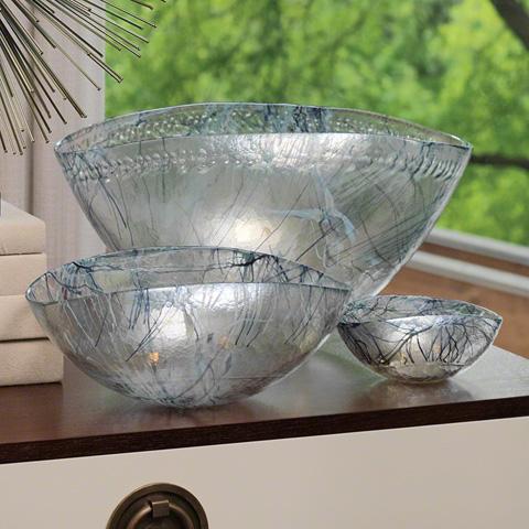 Global Views - Blue Spark Bowl - 3.31145