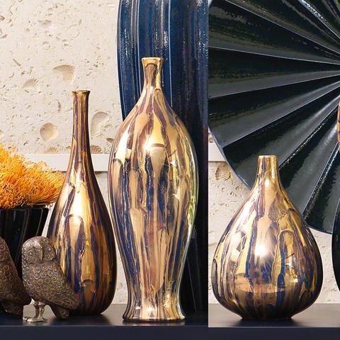 Global Views - Golden Fingerprint Bottle - 3.31219