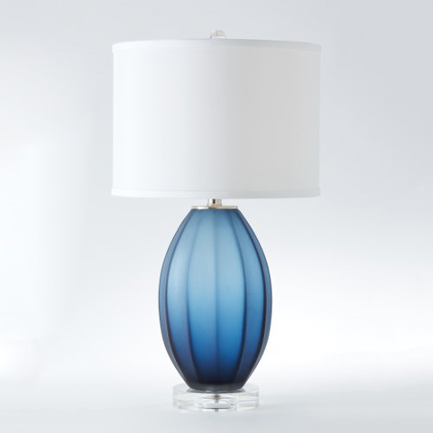 Global Views - Fluted Frosted Lamp - 8.82299