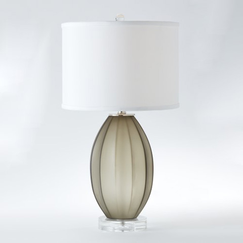 Global Views - Fluted Frosted Lamp - 8.82302
