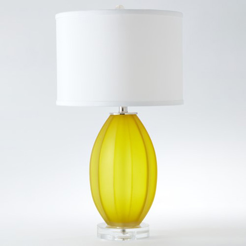 Global Views - Fluted Frosted Lamp - 8.82305