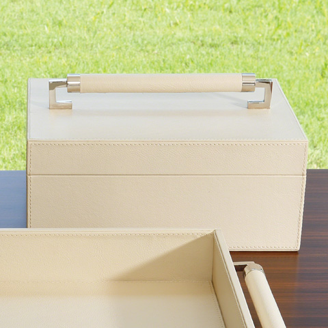 Global Views - Wrapped Leather Handle Box - 9.92596
