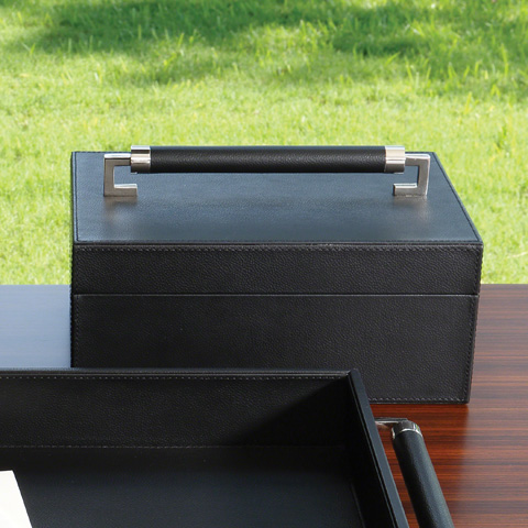 Global Views - Wrapped Leather Handle Box - 9.92610