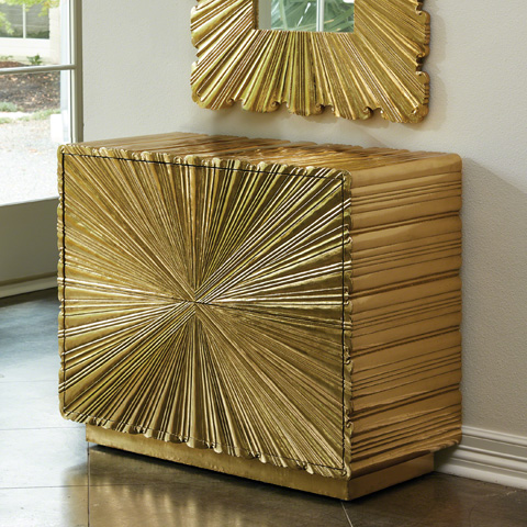 Global Views - Linen Fold Two Drawer Chest - 9.92663