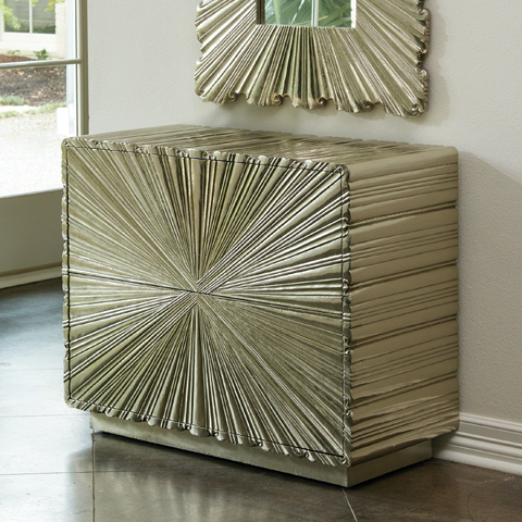 Global Views - Linen Fold Two Drawer Chest - 9.92664