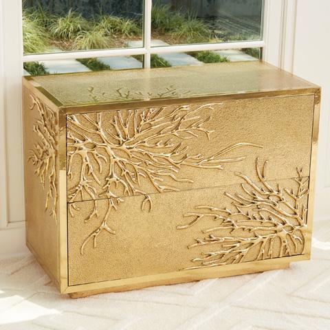 Global Views - Flower Burst Two Drawer Cabinet - 9.92665