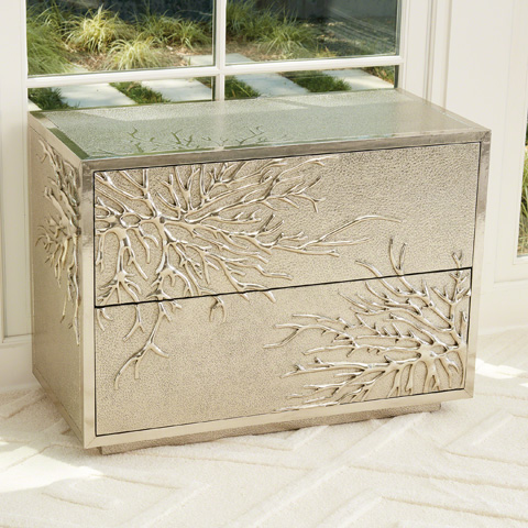 Global Views - Flower Burst Two Drawer Cabinet - 9.92666