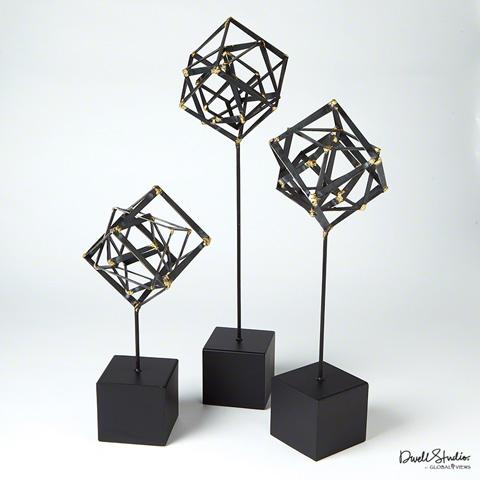Global Views - Tilted Cube Sculpture - D8.80101