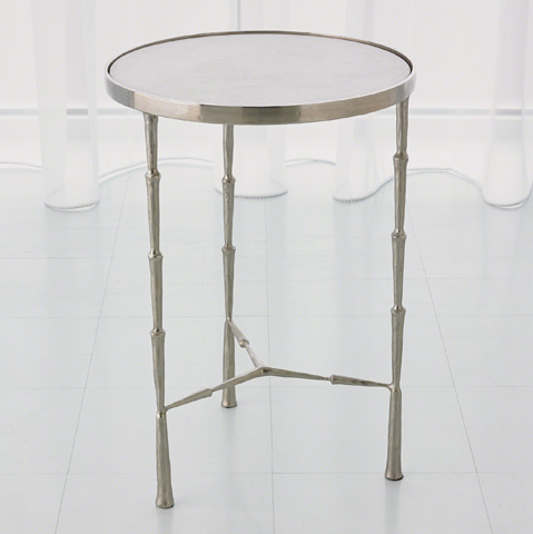 Image of Spike Accent Table in Antique Nickel