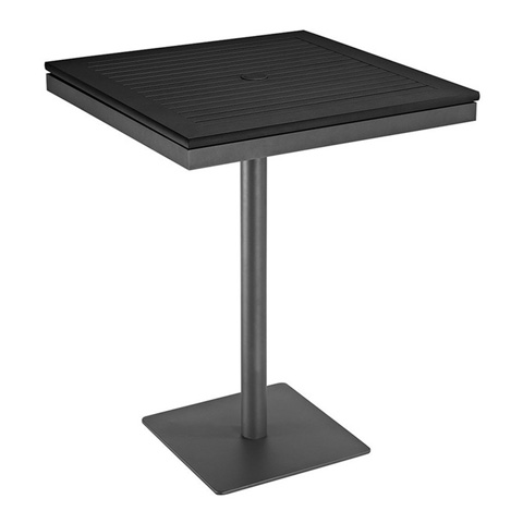 Image of Azore Square Pedestal Bar Table