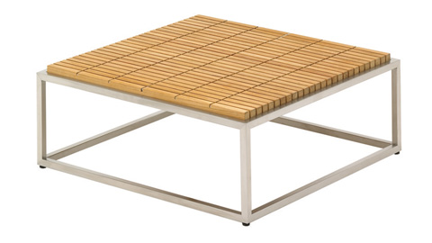 Image of Cloud Coffee Table with Teak Top