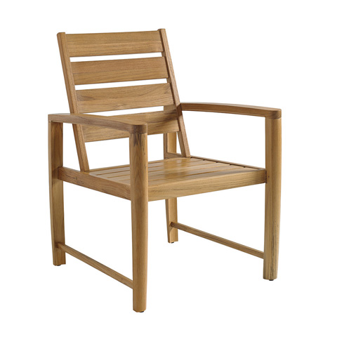 Gloster - Oyster Reef Dining Chair with Arms - 8600