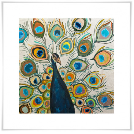 Image of Peacock Metallic Pearl White Artwork