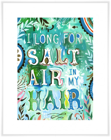 Greenbox Art - Salt Air in My Hair Artwork - NB17206