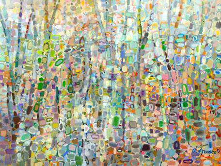 Greenbox Art - Abstract Forest - NI2727