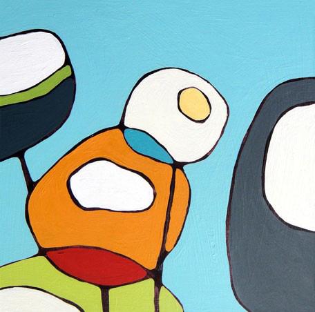 Greenbox Art - Poppies on Blue Art - NI3684