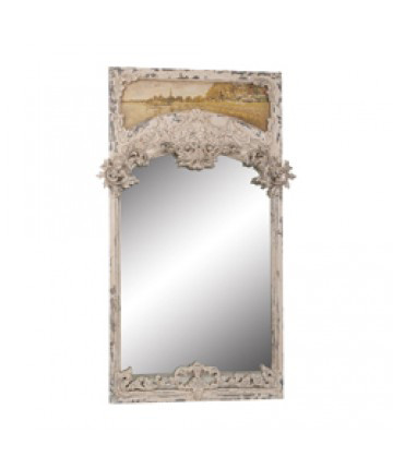 Guildmaster - Carved Trumeau Mirror - 100005